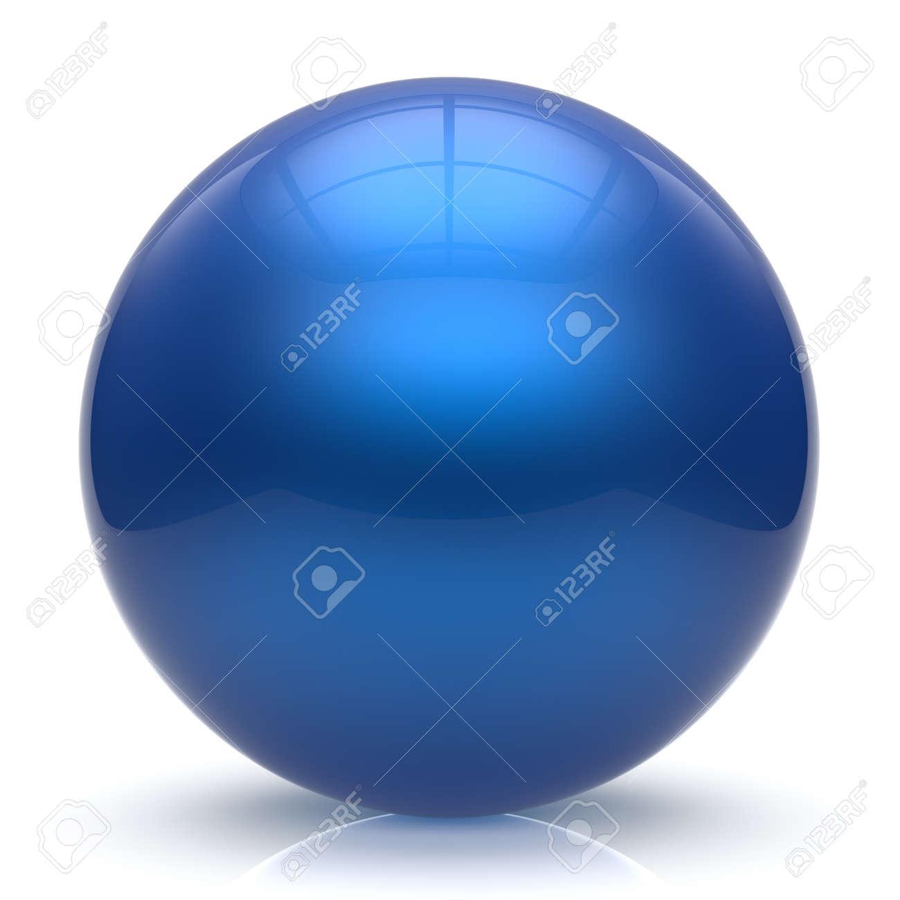 esfera botn de la esfera azul bola redonda crculo bsico forma geomtrica slida figura simple