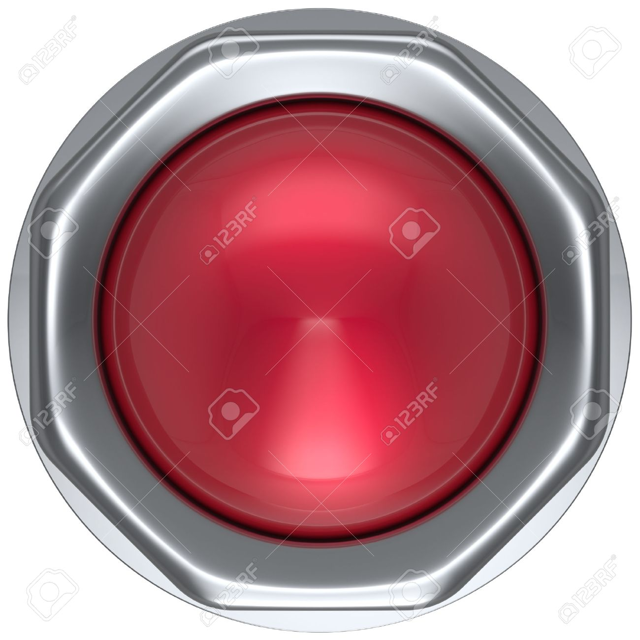 Knopf Rot Militär Spiel Panik Beginnen Nach Unten Auf Aktion Push ...