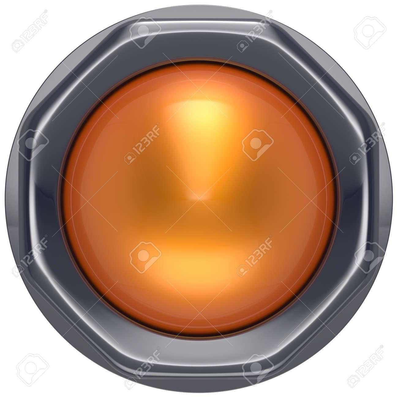 Knopf Orange Start Nach Unten Auf Aktion Push Ausschalten Zündung ...