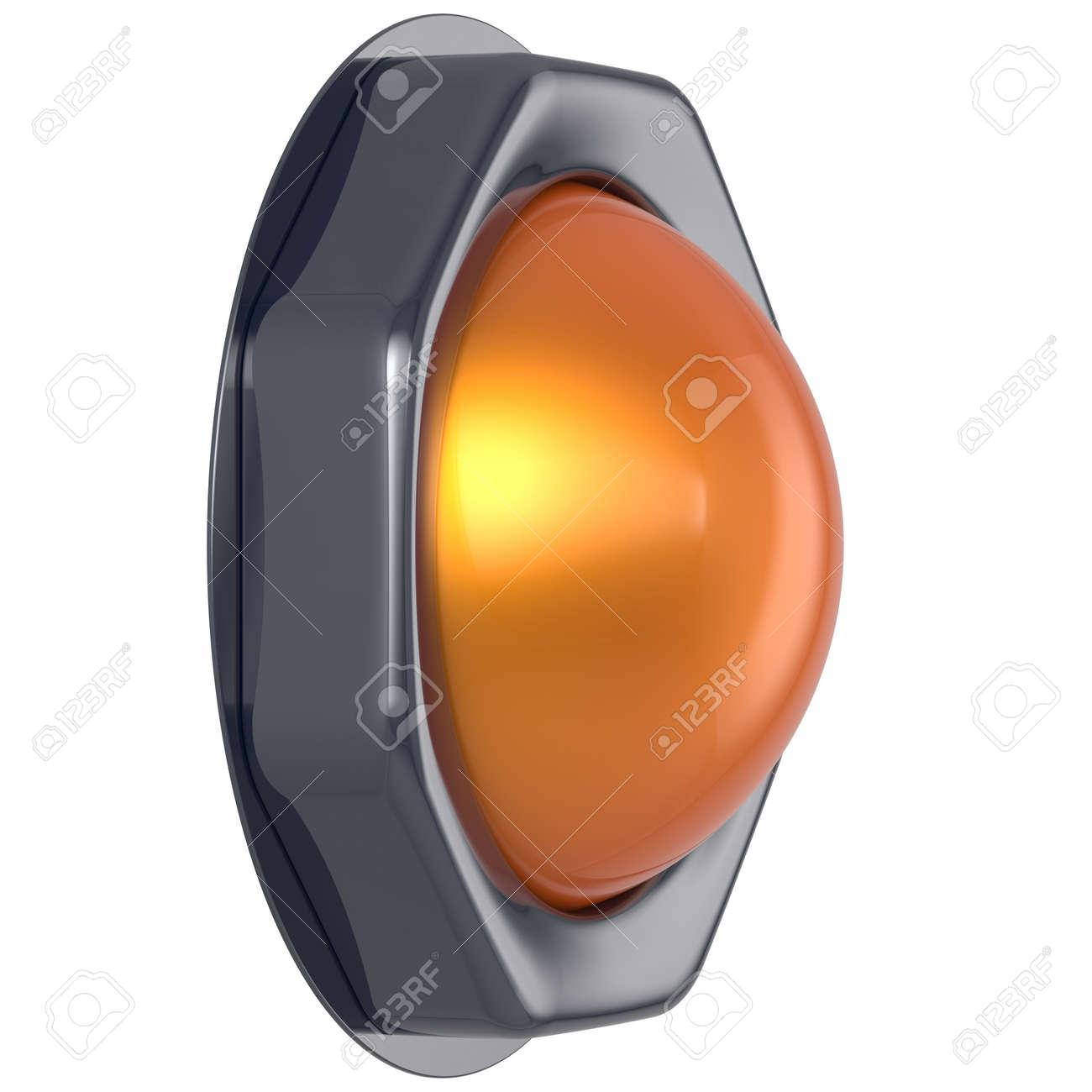 Démarrage Sur Bouton Design Métallique Interrupteur L'action Activer Indicateur D'allumage Jaune Orange Hors Poussoir Électrique Tour Élément H2ID9YEW