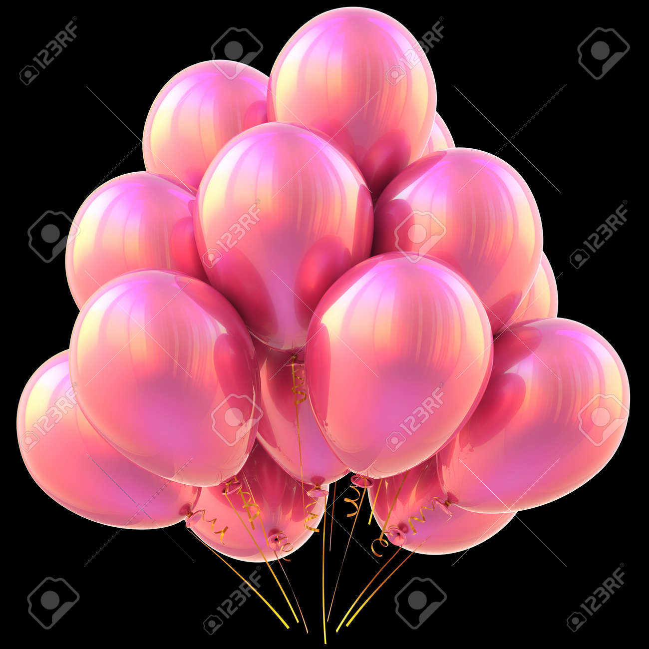 Ballons Rosa Alles Gute Zum Geburtstag Party Dekoration Glanzend