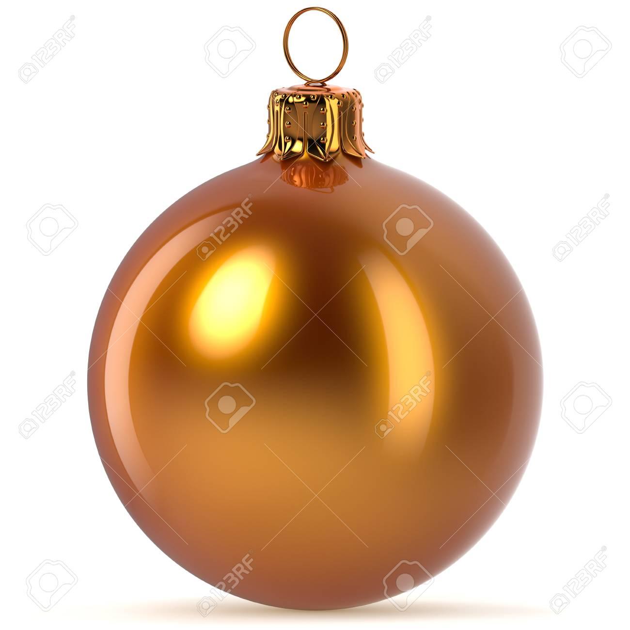 Representación 3d Decoración De Bola De Navidad Dorada Naranja Decoración De Ventana De Feliz Nochevieja Adorno De Chuchería Ornamento De Invierno Feliz Navidad Brillante Pulido De Cerca Fotos Retratos Imágenes Y Fotografía