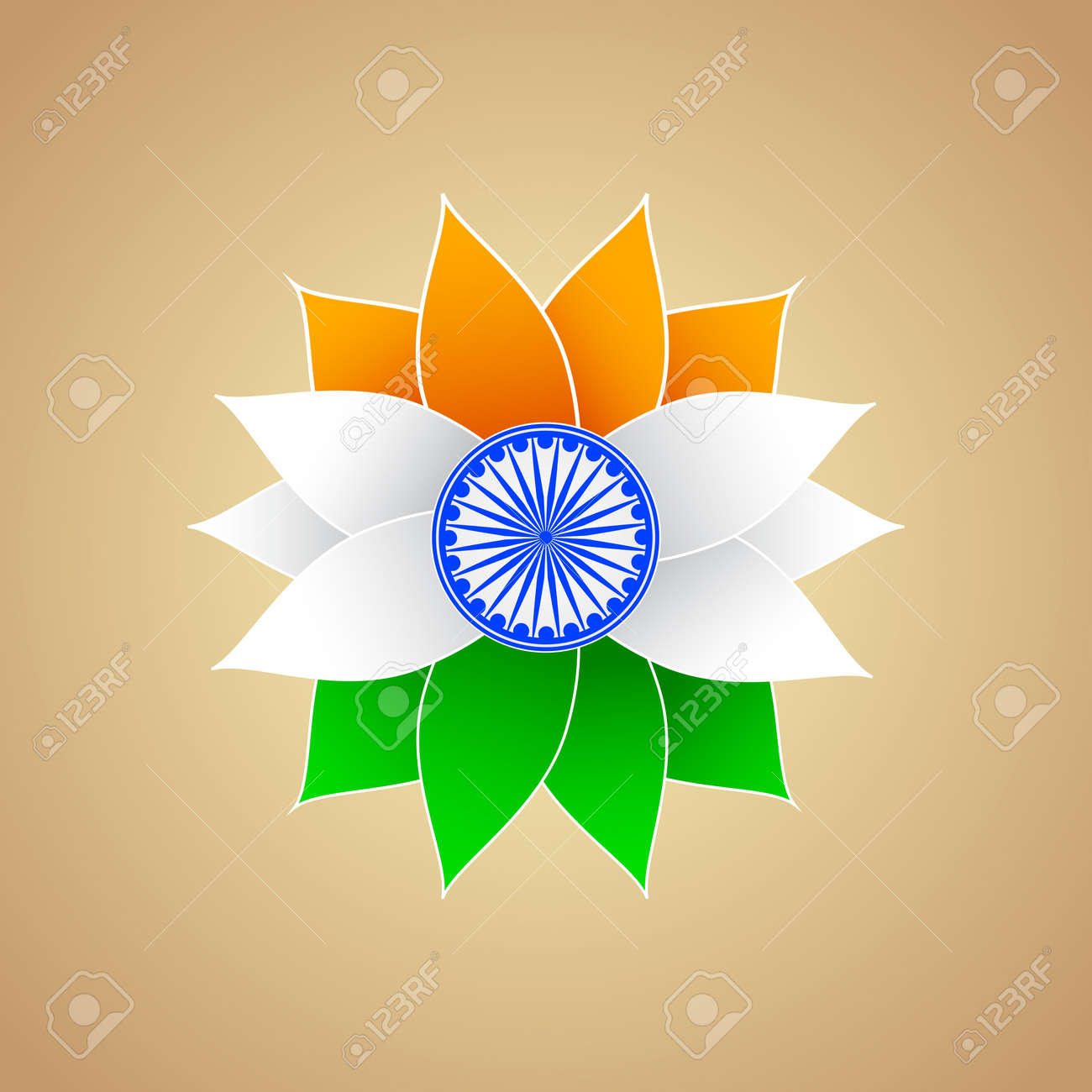 Indian Flag color Flower Stock Vector - 18627579