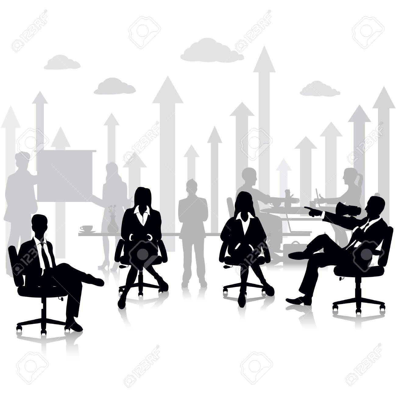 Business People in a Meeting Stock Vector - 18627651