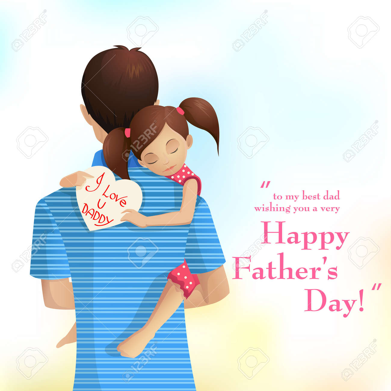 Father and Daughter Stock Vector - 19902360