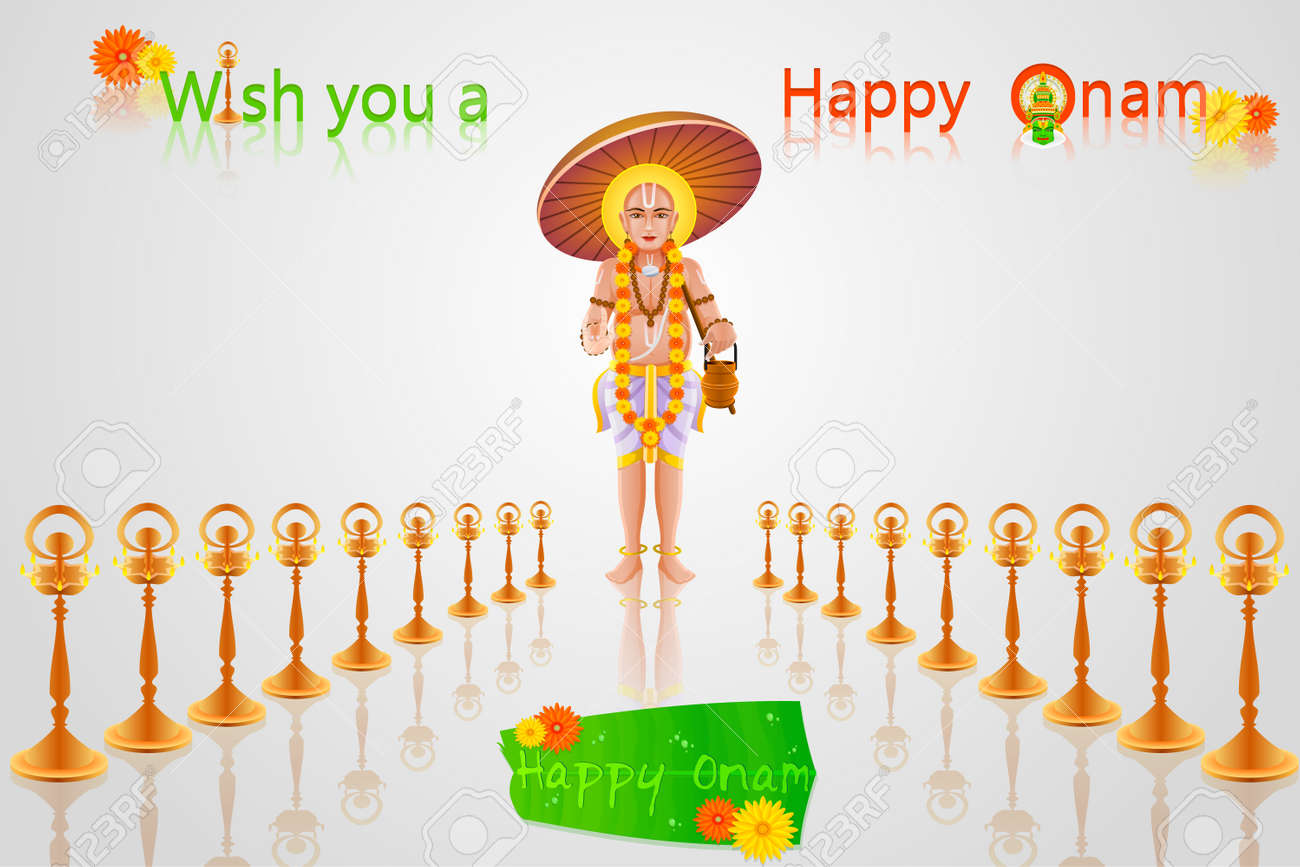 Easy to edit vector illustration of king mahabali in onam greeting easy to edit vector illustration of king mahabali in onam greeting stock vector 25662348 m4hsunfo