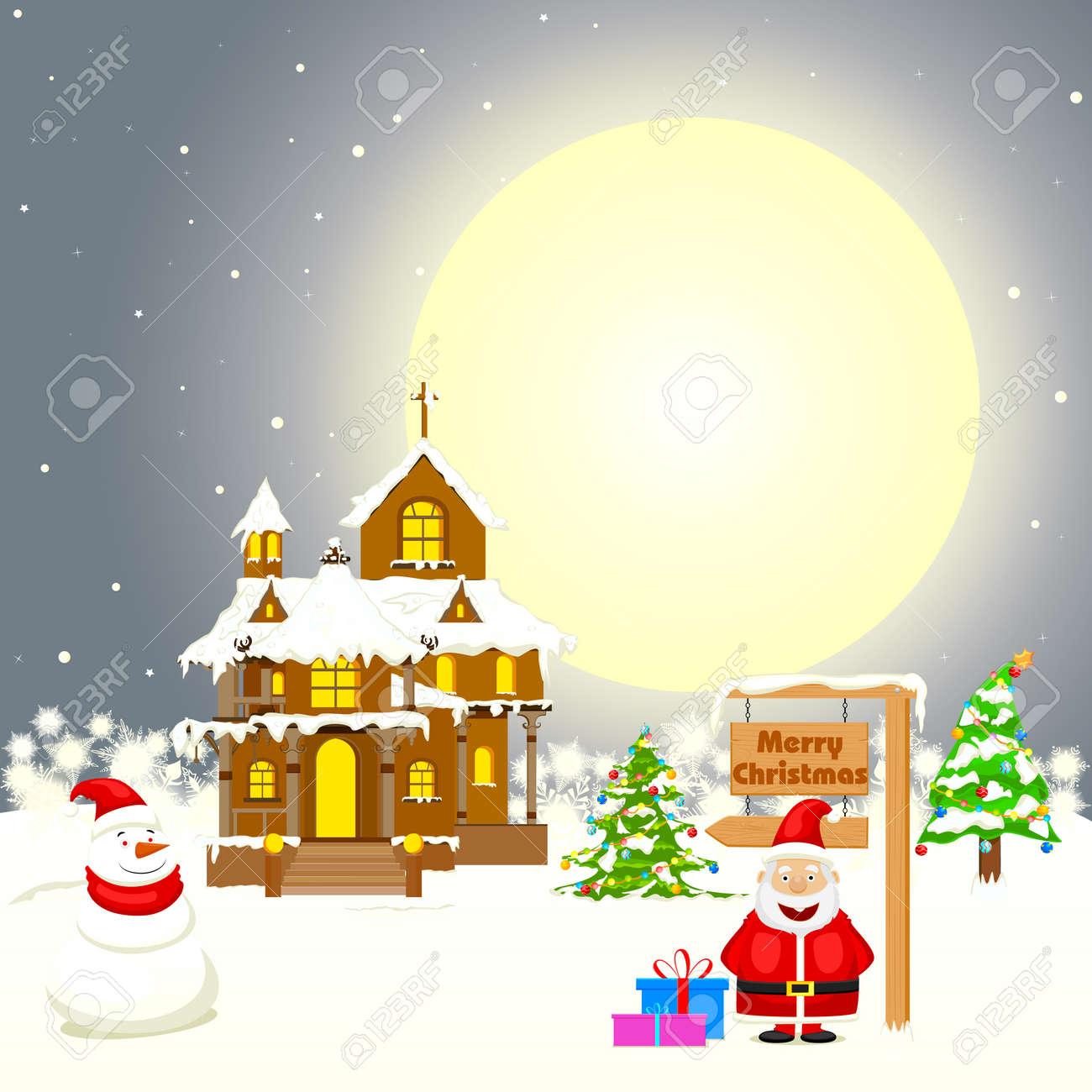 簡単にクリスマスのギフトの装飾家にサンタさんのベクター グラフィック