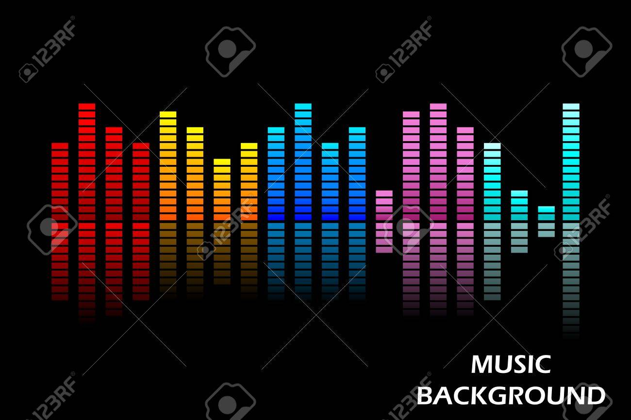 easy to edit vector illustration of music equaliser Stock Vector - 25663717