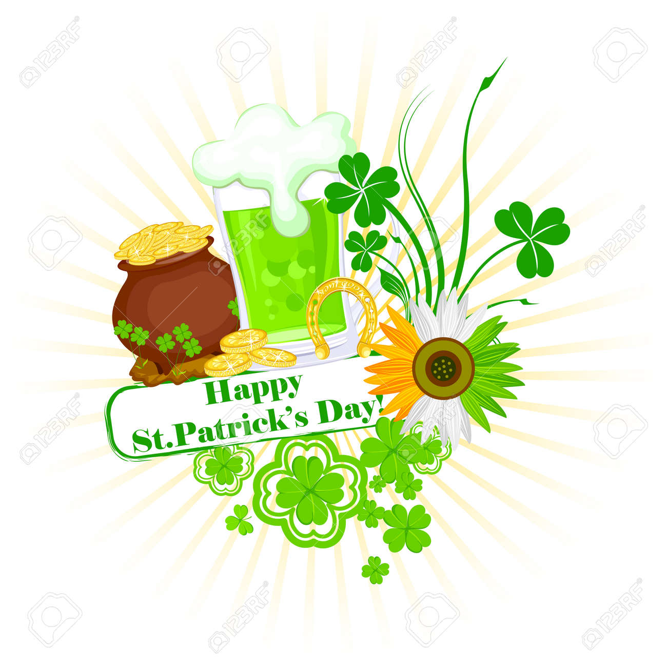 easy to edit vector illustration of Saint Patrick's Day Stock Vector - 25664024