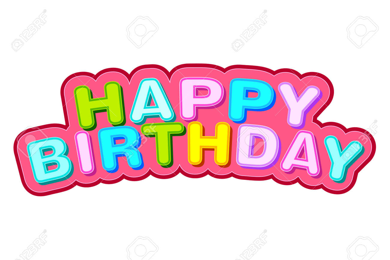 Easy To Edit Vector Illustration Of Happy Birthday Background Stock