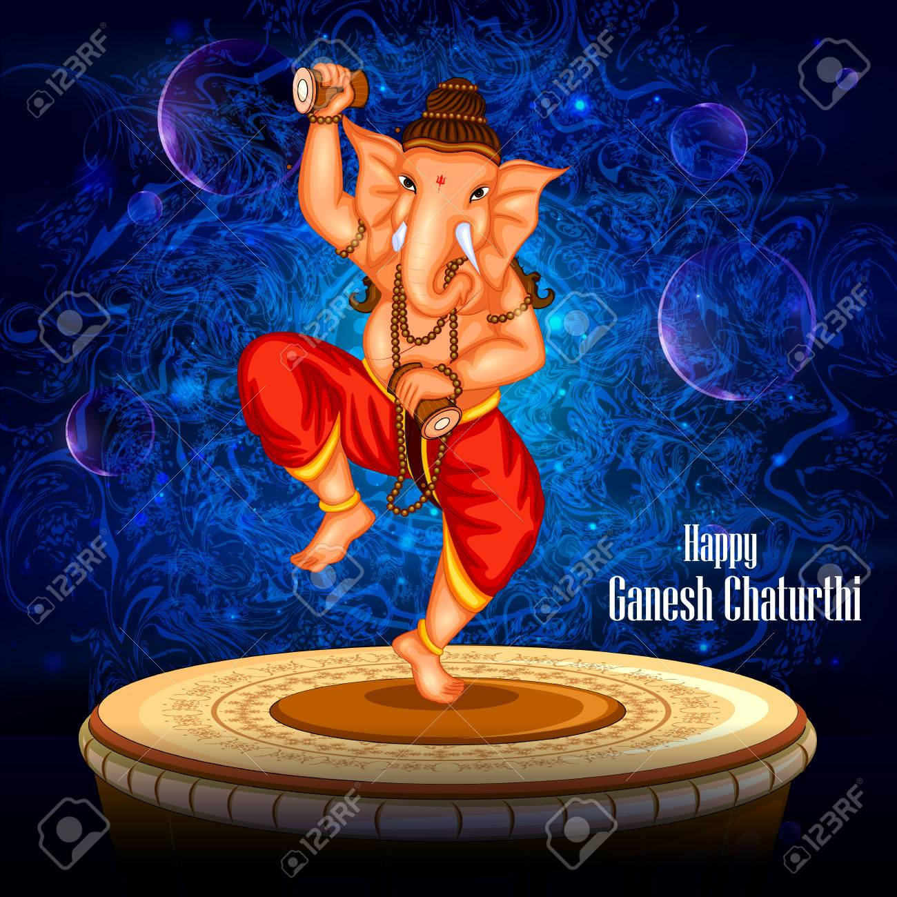 Easy To Edit Vector Illustration Of Happy Ganesh Chaturthi Background Royalty Free Cliparts Vectors And Stock Illustration Image 61959347