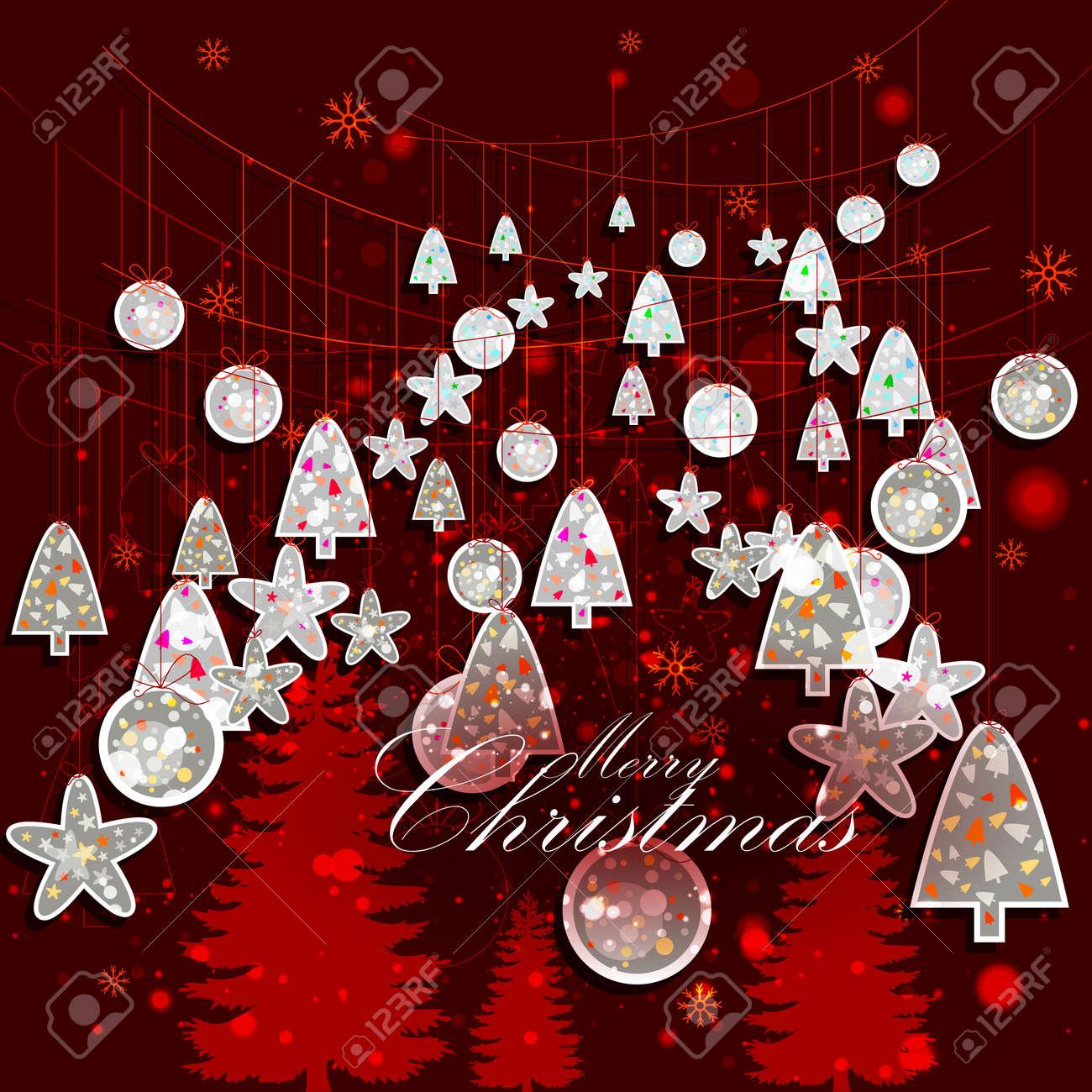 Weihnachten Bilder Bearbeiten.Einfach Zu Bearbeiten Vektor Illustration Der Dekoration Für Frohe Weihnachten Feier Feier