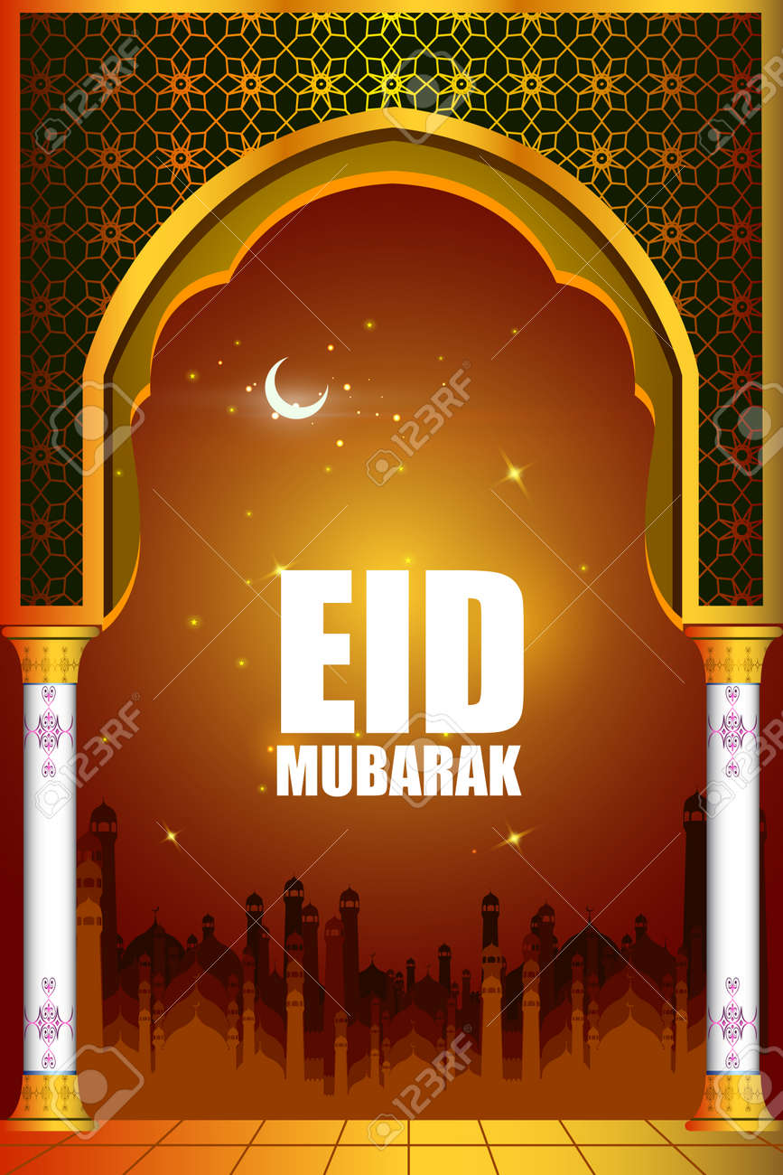 Islamic design mosque door and window for Eid Mubarak Happy Eid celebration background Stock Vector - & Islamic Design Mosque Door And Window For Eid Mubarak Happy Eid ...