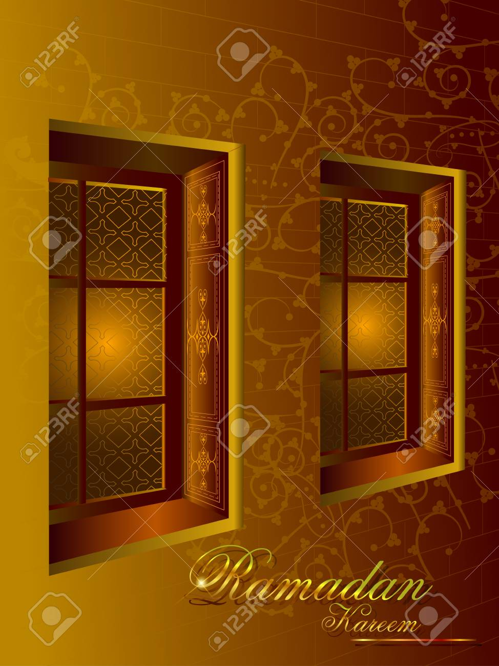 Islamic design mosque door and window for Ramadan Kareem Happy Eid celebration background Stock Vector -  sc 1 st  123RF.com & Islamic Design Mosque Door And Window For Ramadan Kareem Happy ...