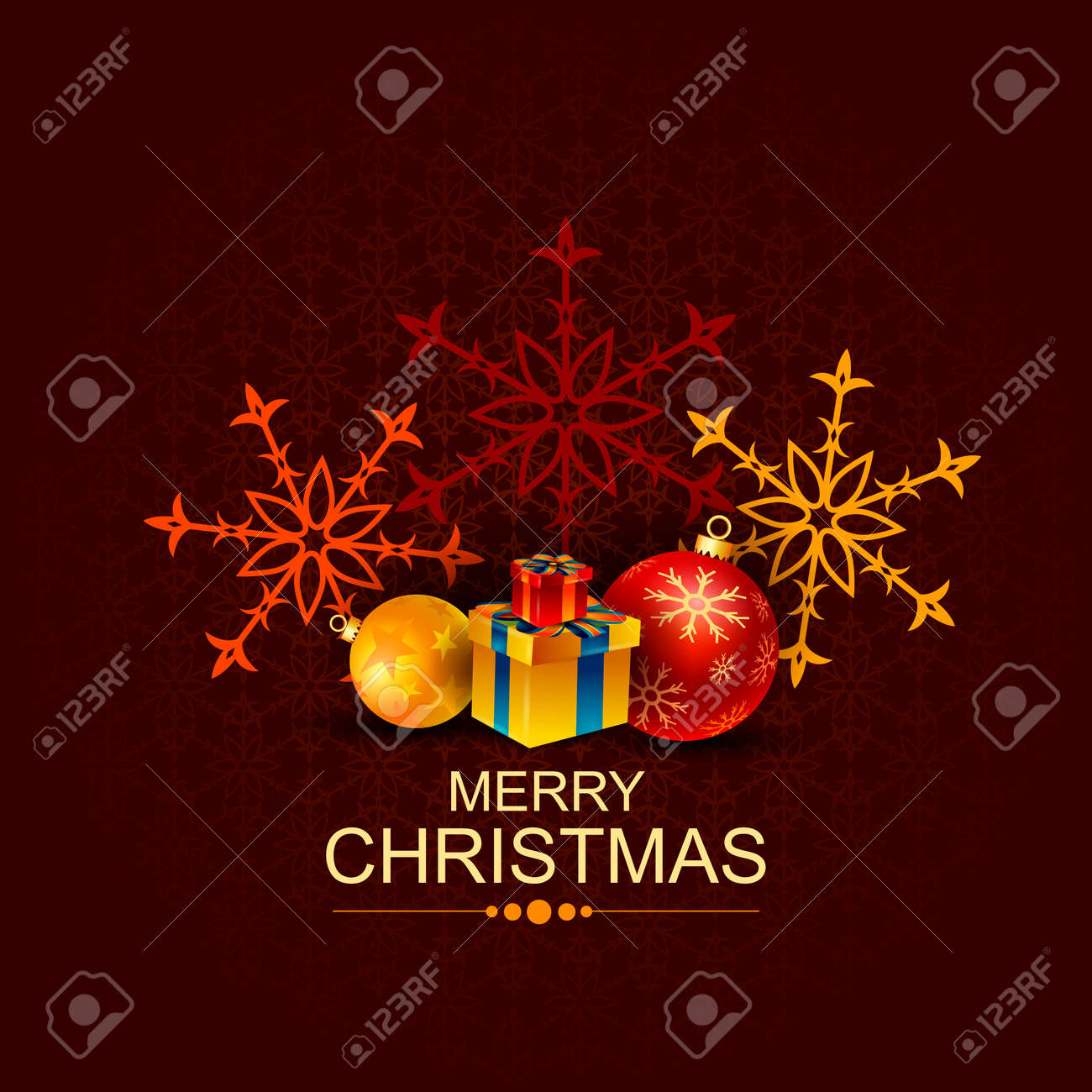 Gift Box And Decoration For Happy New Year And Merry Christmas ...