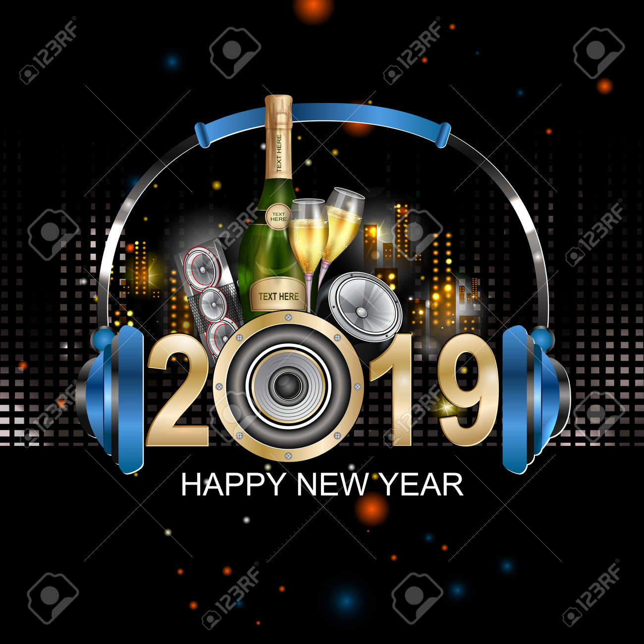 Happy New Year Editing Background 6