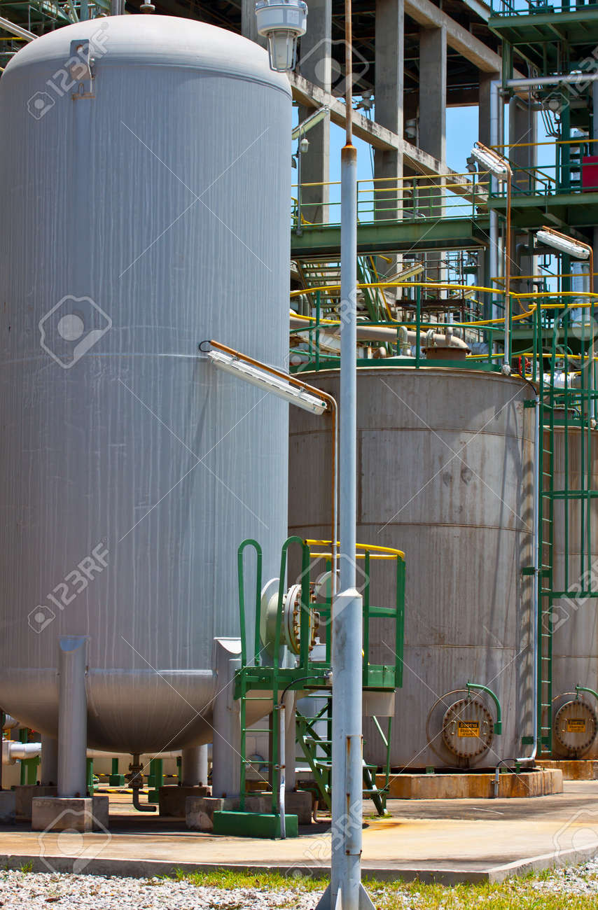 tanks in an industrial world Stock Photo - 14677429