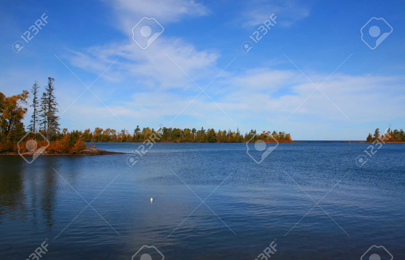 Beautiful lake superior shore at Michigan upper peninsula Stock Photo - 1544283