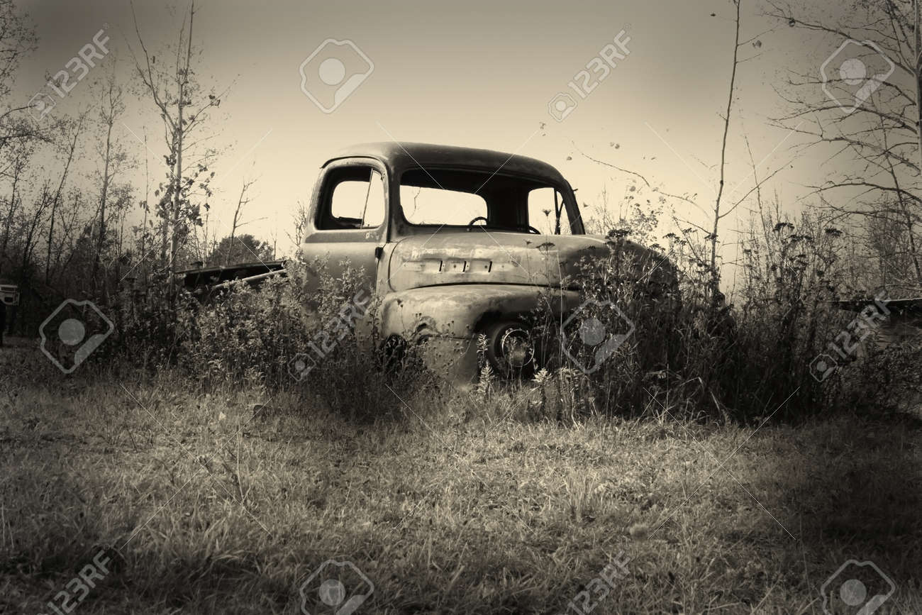 Old Pickup Truck Body In The Junk Yard Stock Photo, Picture And ...