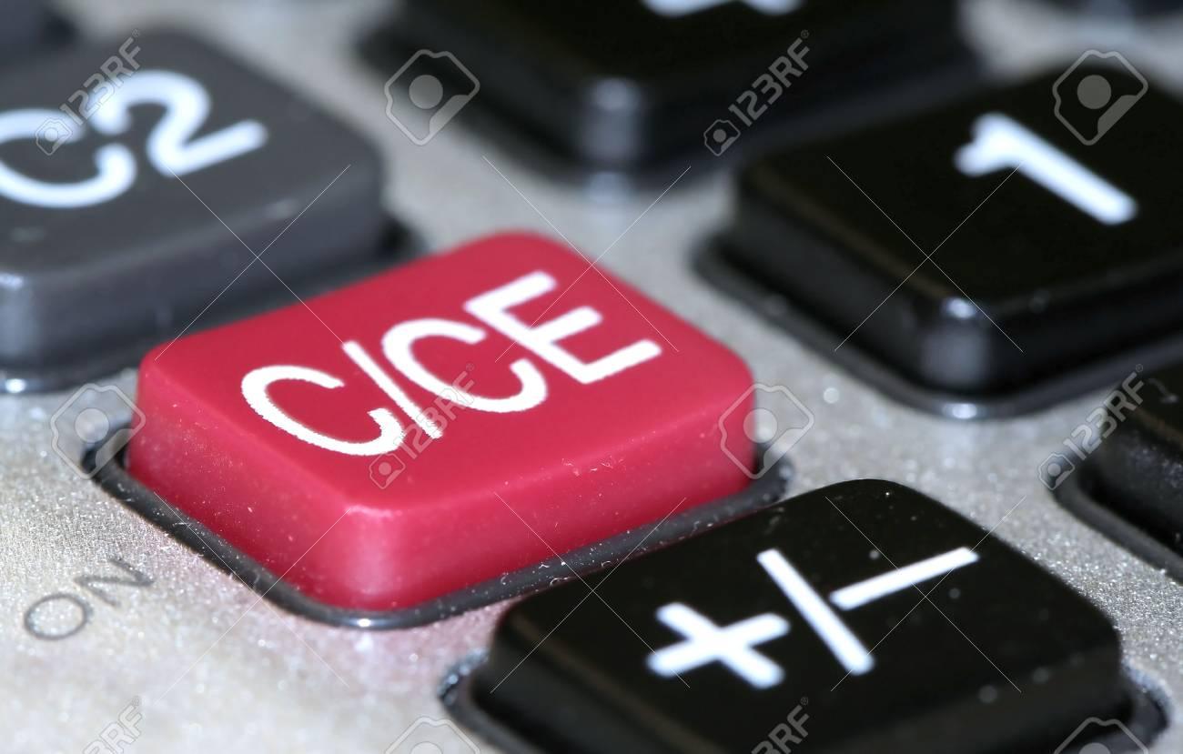 Calculator On Button Stock Photo - 3492903