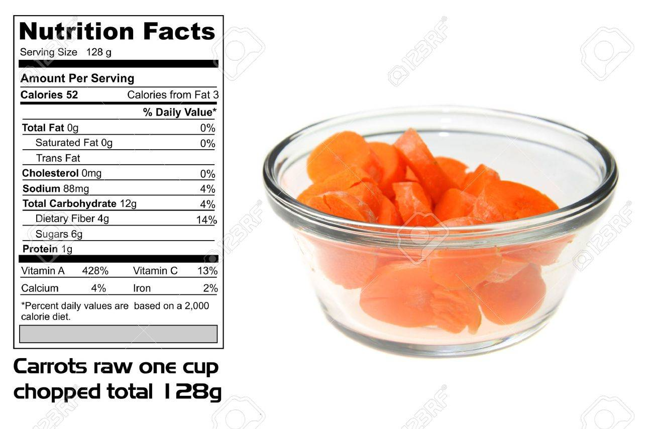 How many calories in carrots 20