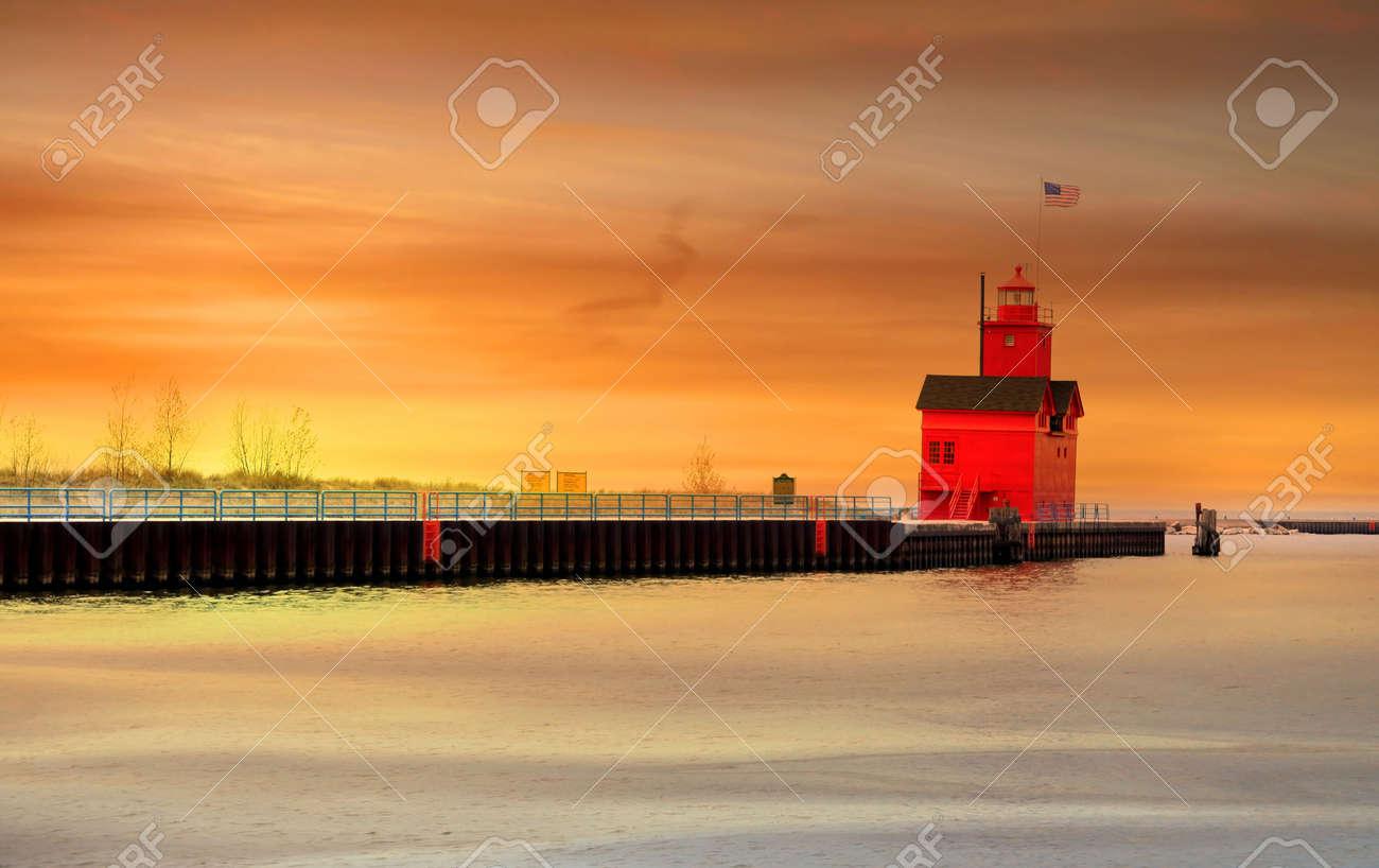 Holland light house Stock Photo - 7288473