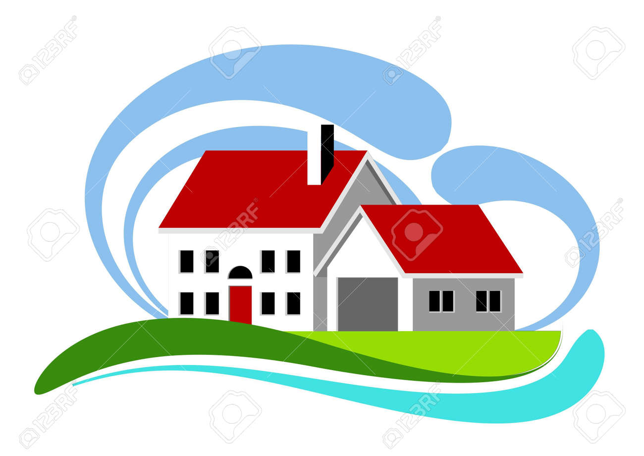 illustration of colorful home icon Stock Illustration - 7955282