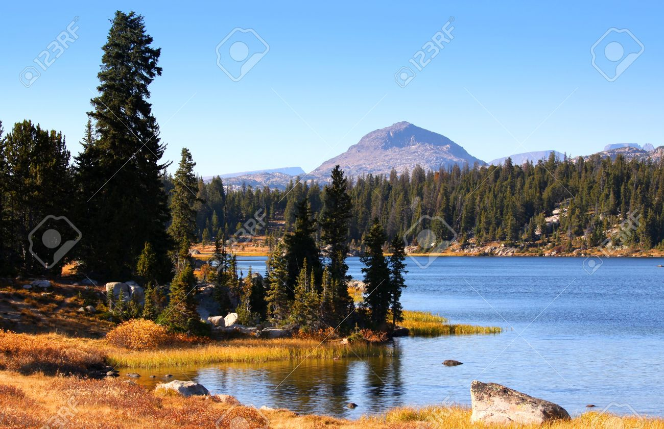 Scenic Landscape In Wyoming Stock Photo, Picture And Royalty Free ...