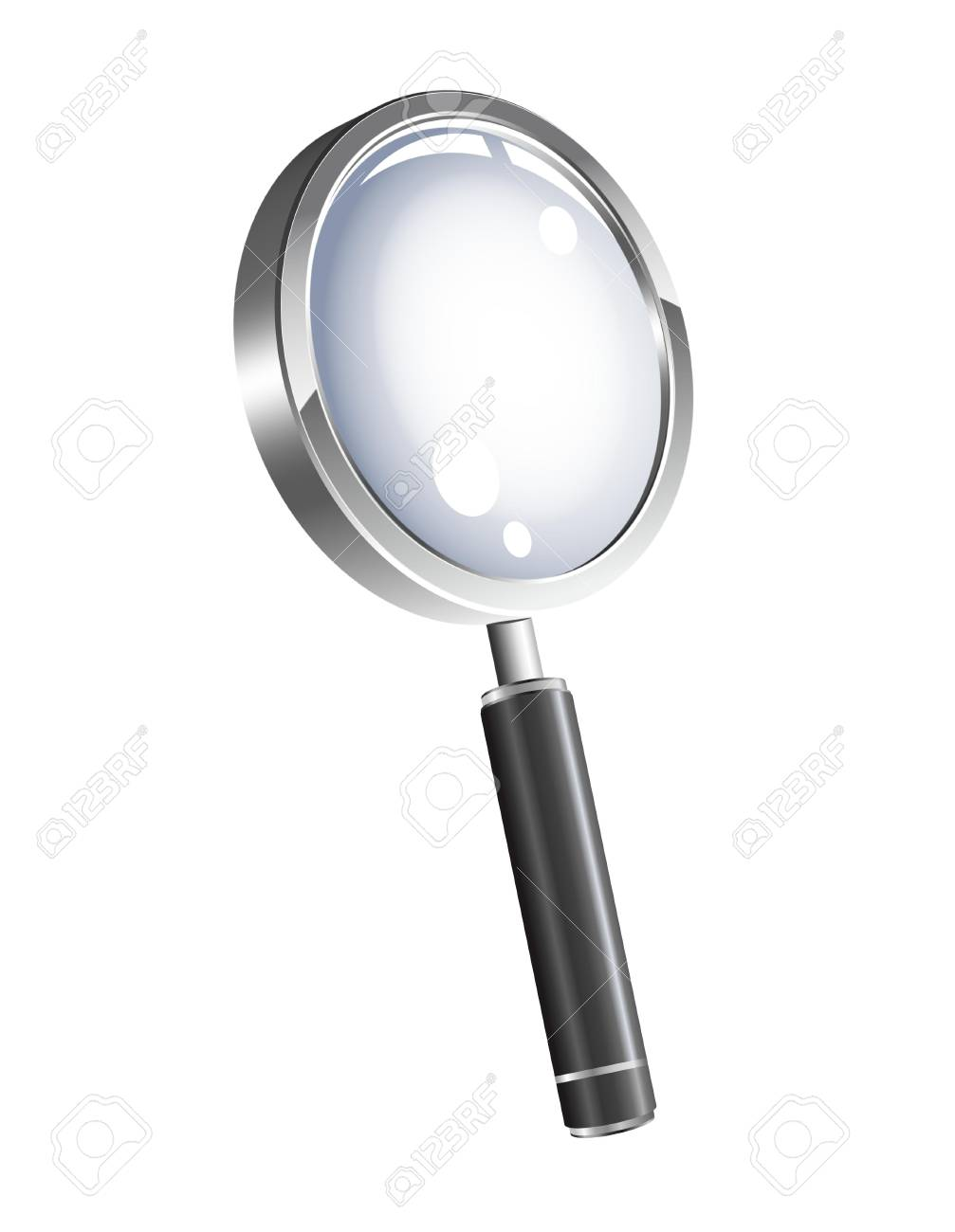 illustration of 3d magnification glass Stock Photo - 9141822