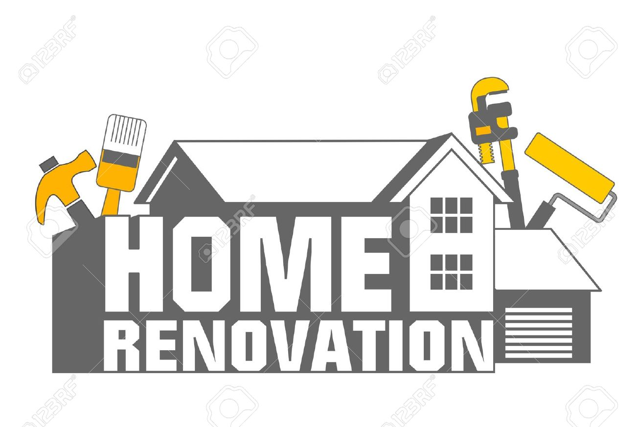 an illustration of home renovation icon and tools stock illustration 10539805