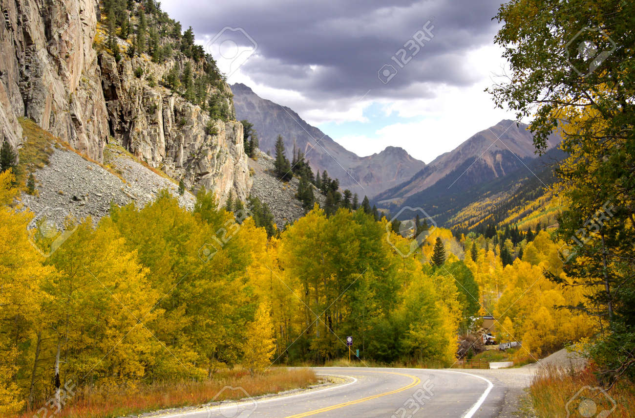Scenic drive in Rocky mountains in Colorado Stock Photo - 10539833