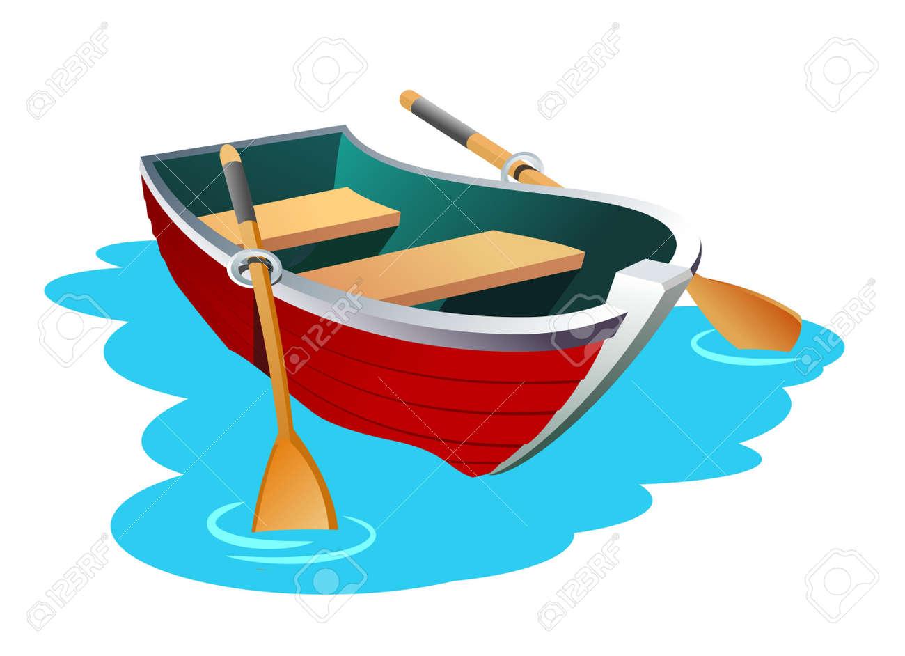 Row Boat Illustration Row Boat Boat Cartoon