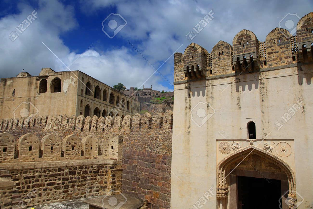 400 year Golkonda fort in Hyderabad India Stock Photo - 16542680