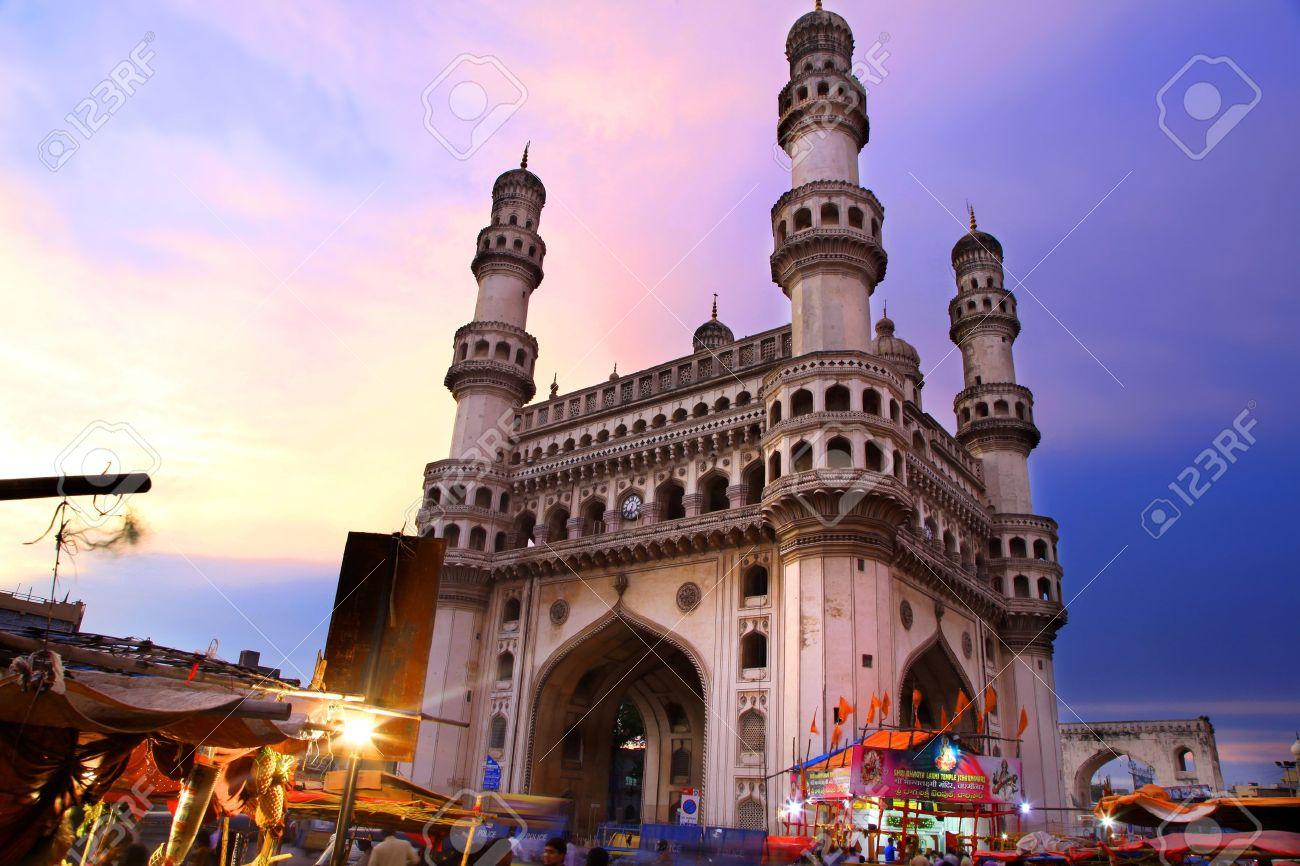 400 Year old historic Charminar in Hyderabad India - 18509374