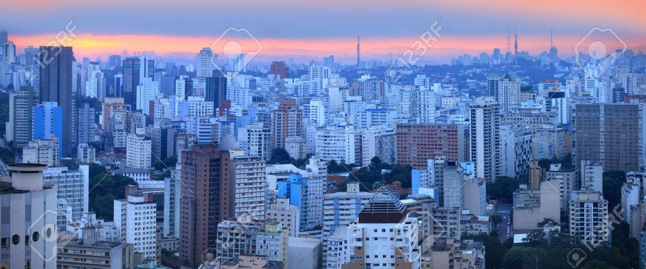 Panoramic view of Sao palo skyline - 22095544