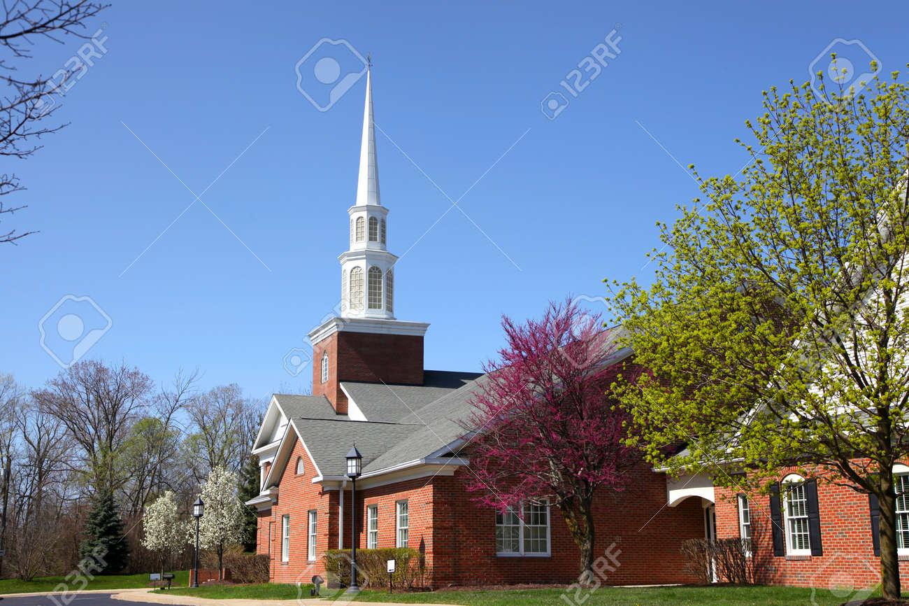 Elegant Church building in spring time - 24681721