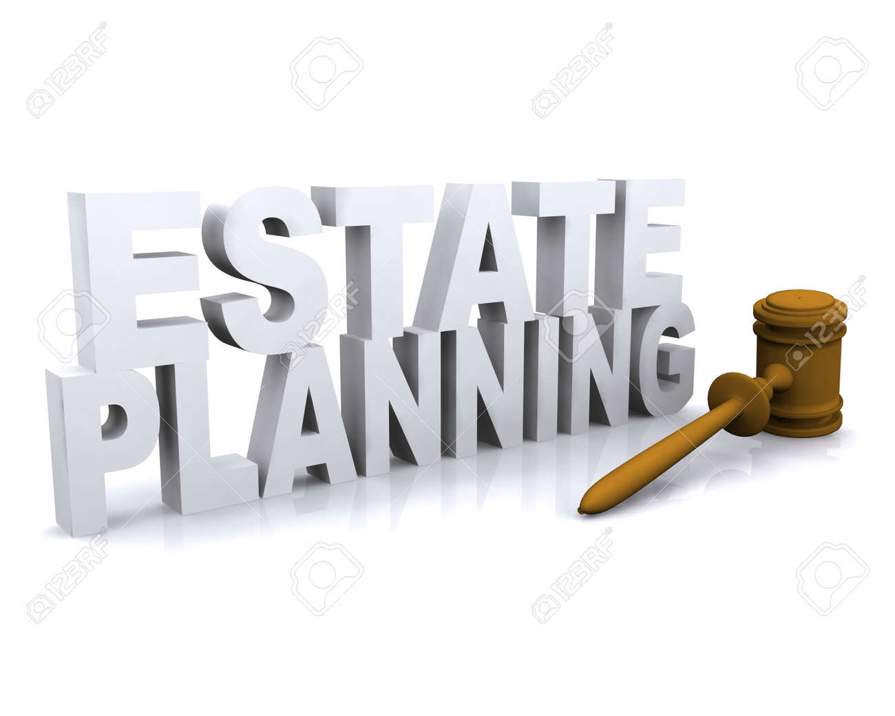 3D illustration of Estate planning concept - 24975541