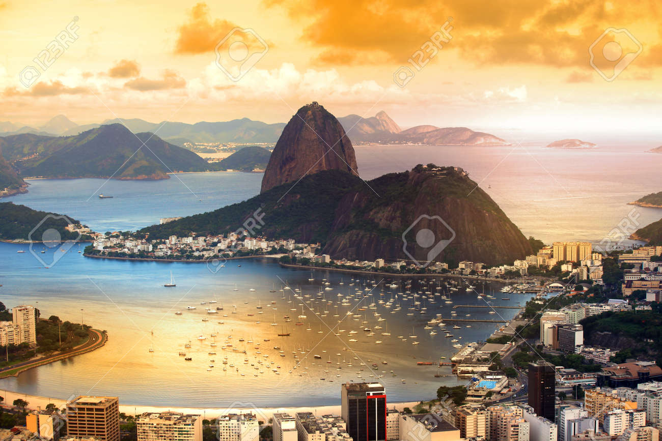 Rio De Janeiro, Brazil in twilight - 36877035
