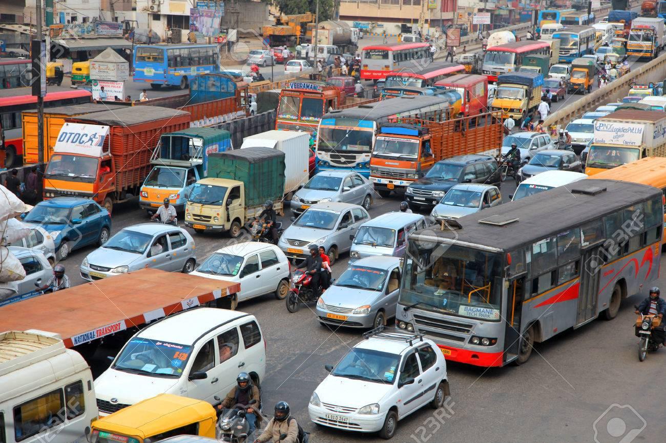 Bangalore city traffic - 55272291