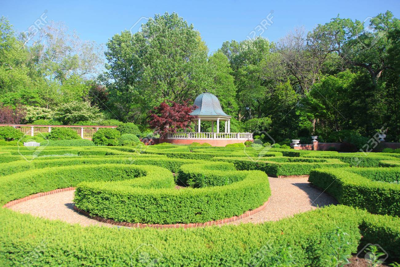 Saint Louis Botanical Garden Stock Photo Picture And Royalty