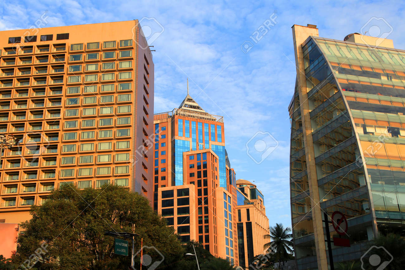 Modern buildings in Bangalore downtown - 78866456