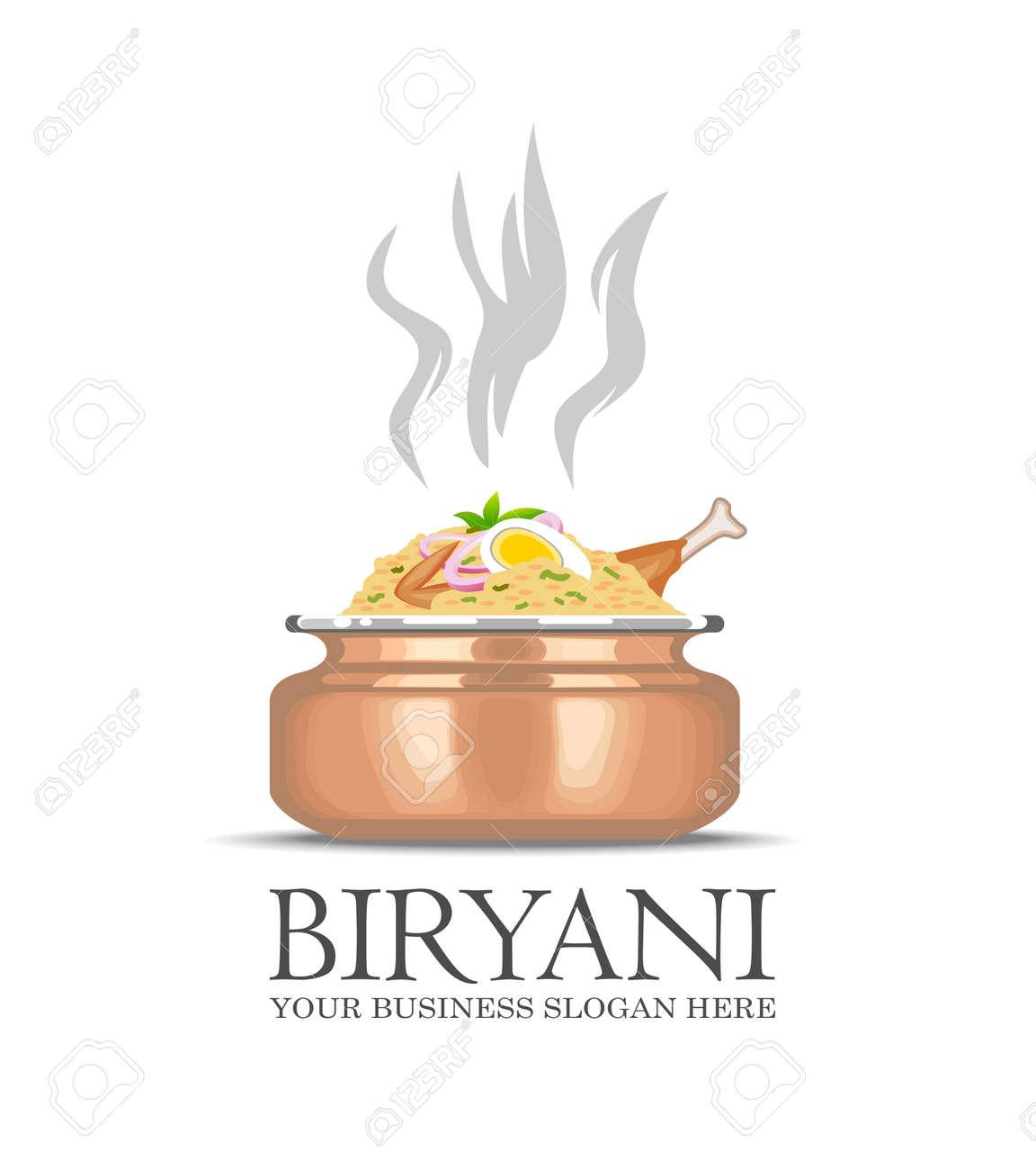 An illustration of famous indian dish Biryani icon - 79725891