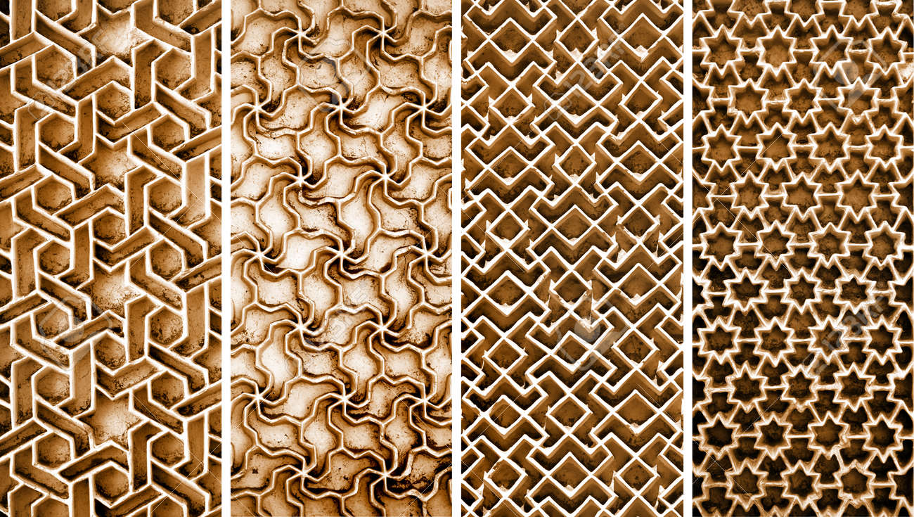 Collage Of Different Intricate Patterns On The Wall Exteriors Stock Photo Picture And Royalty Free Image Image 80781188