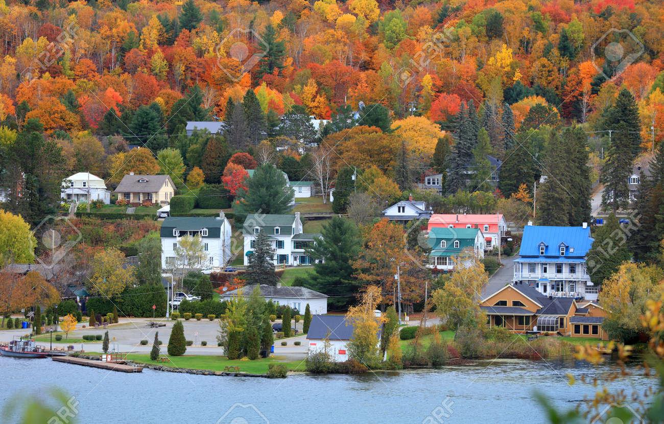 Grandes Piles town ,Quebec, Canada - 120792437