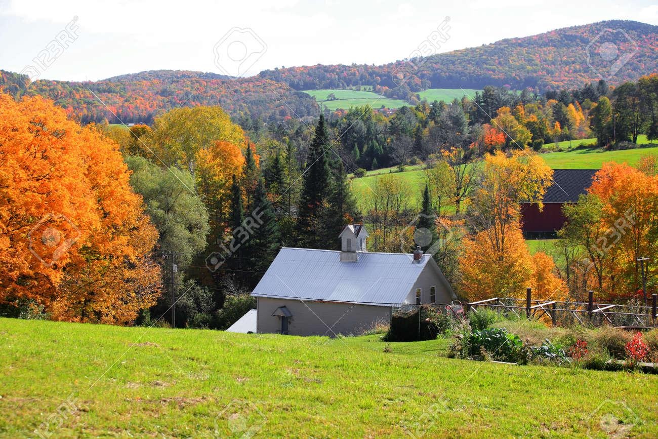 Rural Vermont landscape in Autumn time - 130273719