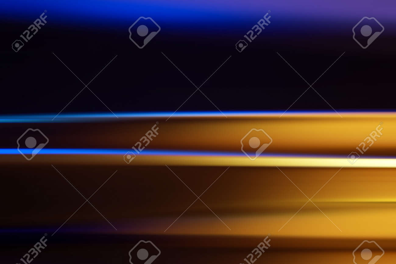 Abstract background crated with metal strips illuminated with different colors - 164161376