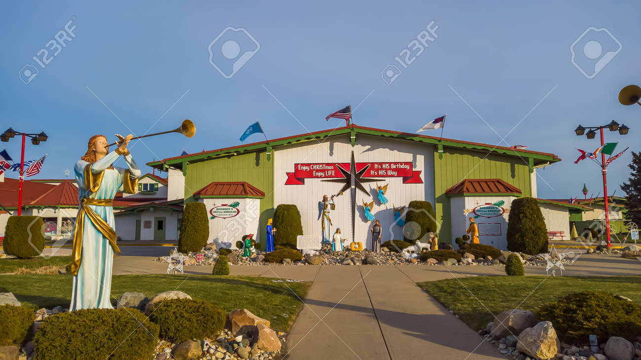 Frakenmuth, Michigan - December 29, 2020: Bronners Christmas Wonderland in Frankemuth, Michigan is worlds largest Christmas store. - 163182999