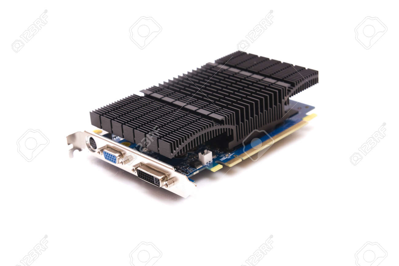 Computer video card on white background, communication, hardware Stock Photo - 4332940