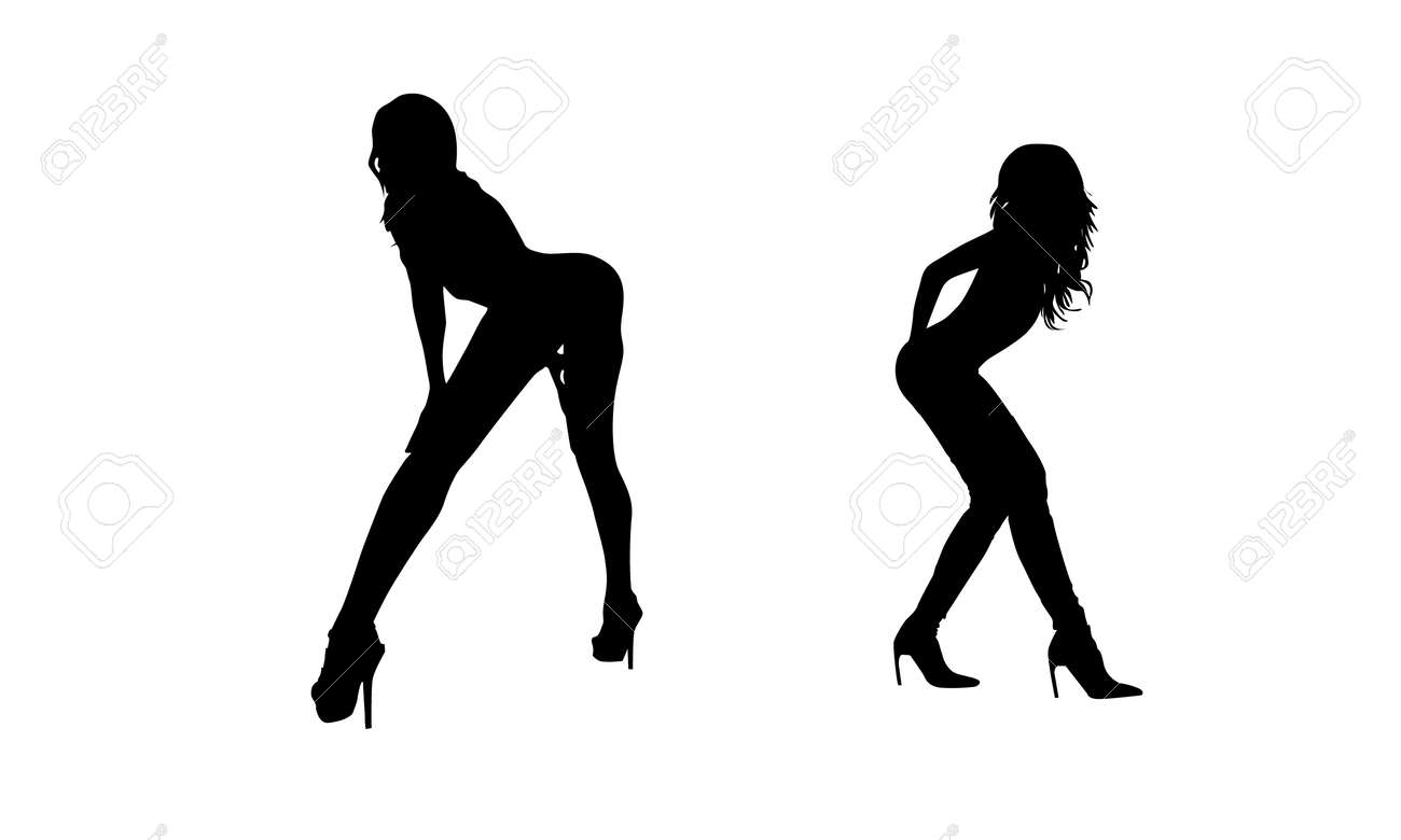 sexy woman silhouette royalty free cliparts vectors and stock rh 123rf com sexy victoria secret dress-up games sexy victorias secret license plates