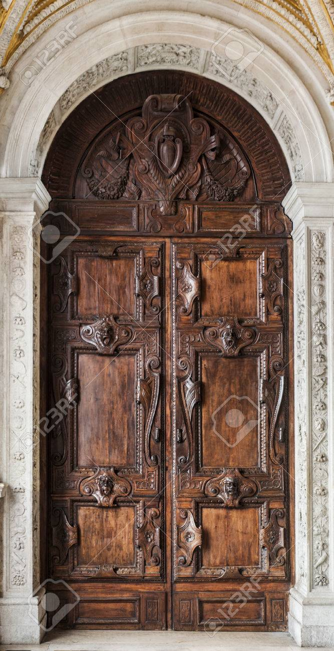 Old Gothic Door Stock Photo - 26147903 & Old Gothic Door Stock Photo Picture And Royalty Free Image. Image ... pezcame.com